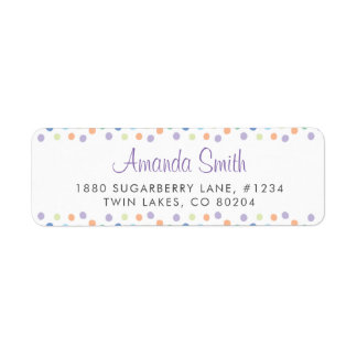Colorful Hand-drawn Dots Return Address Label