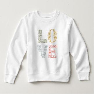 Colorful Hand-drawn Floral Love | Sweatshirt