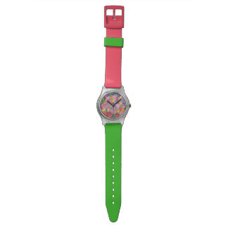 Colorful Hand Drawn Tulips Watch