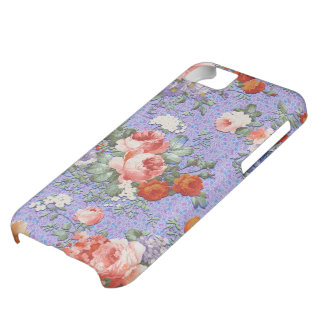Colorful Hand Painted Rustic Flower-Blue Tint 2 iPhone 5C Case