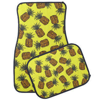colorful hand painted tropical pineapple pattern car mat