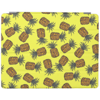 colorful hand painted tropical pineapple pattern iPad cover