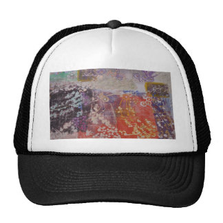 Colorful Hand Printed Design Hats