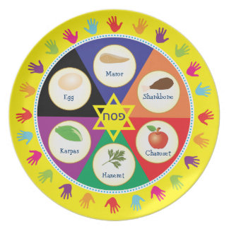 Colorful Hands Kids Passover Seder Plate