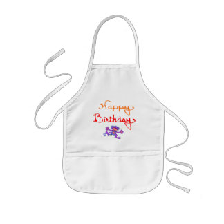 Colorful Happy Birthday Aprons