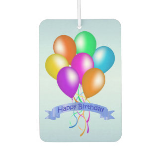 Colorful Happy Birthday Balloons Banner Party