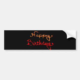 Colorful Happy Birthday Bumper Stickers