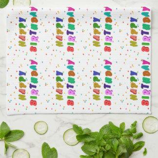 Colorful Happy Birthday Party Tea Towel