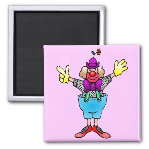 Colorful Happy Clown Fridge Magnets