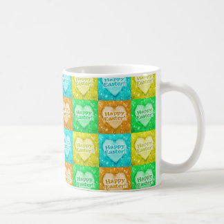 Colorful Happy Easter Pattern Coffee Mug