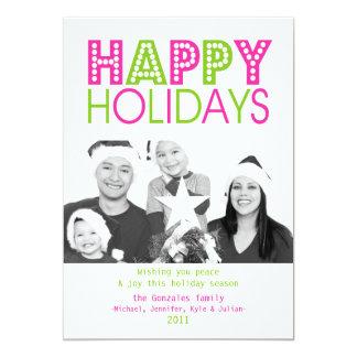 Colorful Happy Holiday Card 13 Cm X 18 Cm Invitation Card