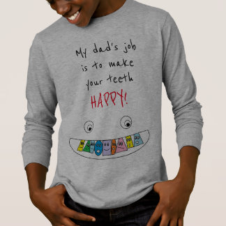 Colorful HAPPY Teeth Smiling Face Design T-Shirt