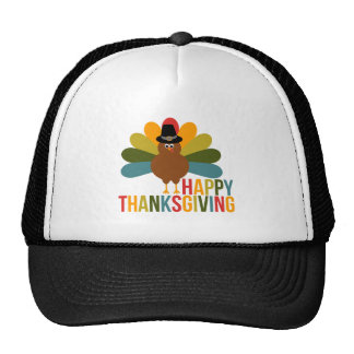 Colorful Happy Thanksgiving Turkey Cap