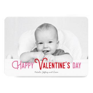 Colorful Happy Valentine's Day Full Photo Card 13 Cm X 18 Cm Invitation Card