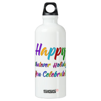 Colorful Happy Whatever Holiday You Celebrate! Water Bottle