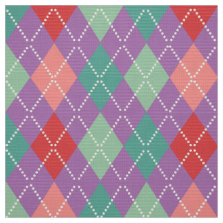 Colorful Harlequin Geometric Pattern 4 Fabric