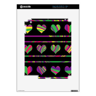 Colorful harts pattern skin for the iPad 2
