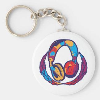 Colorful Headphones Key Chain