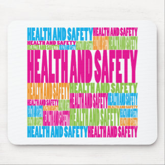 Colorful Health and Safety Mouse Mats