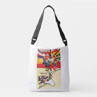 Colorful Heart and Floral Dancer tote bag