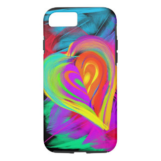 Colorful Heart Doodle iPhone 7 Case