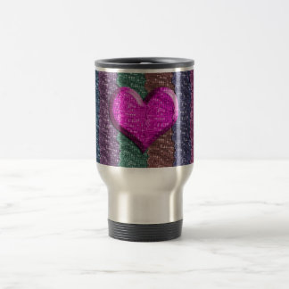 Colorful Heart Metal Mesh Travel Mug