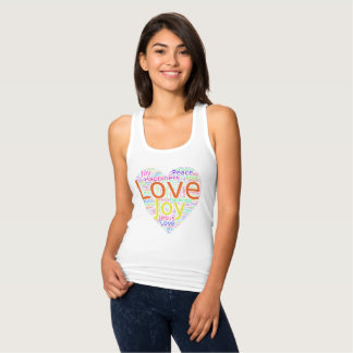 Colorful Heart of Love, Joy, Peace,and Happiness Singlet