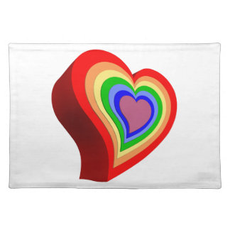Colorful heart placemat