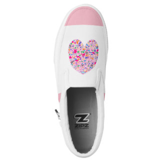 Colorful Heart Slip-On Shoes
