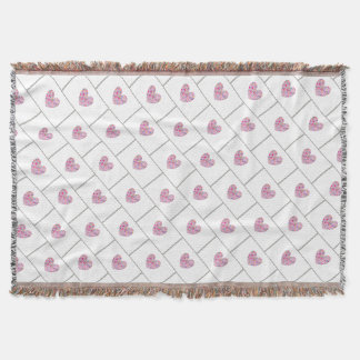 Colorful Heart Throw Blanket