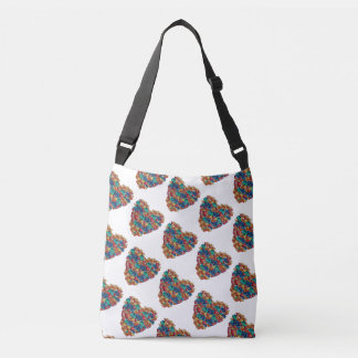 Colorful hearts  All-Over-Print Cross Body Bag