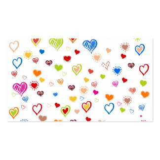 Colorful Hearts. Business Card Template