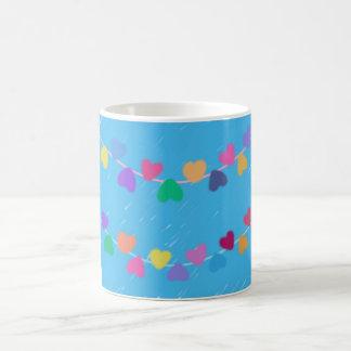 Colorful Hearts Coffee Mug