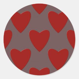 Colorful hearts design love St. Valentine's Day Classic Round Sticker
