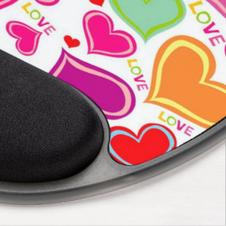 colorful hearts gel mouse pad