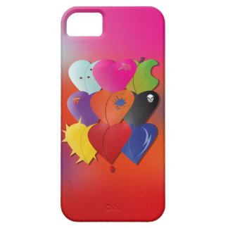 Colorful Hearts in Various Designs and Feel iPhone 5 Covers