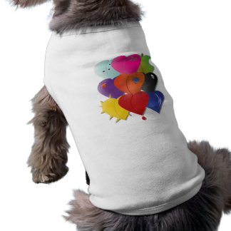 Colorful Hearts in Various Designs and Feel Sleeveless Dog Shirt