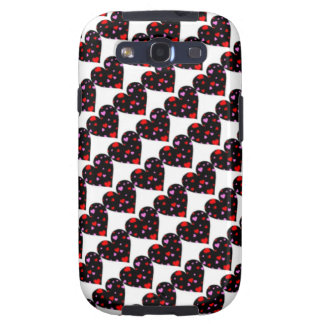 Colorful hearts love case samsung galaxy s3 cases