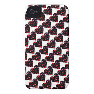 Colorful hearts love case iPhone 4 Case-Mate cases