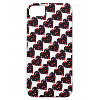 Colorful hearts love case iPhone 5 covers