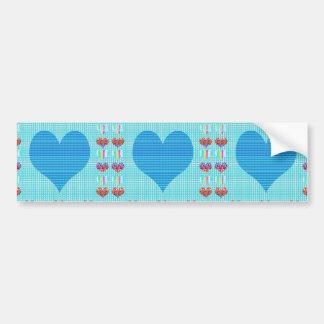 Colorful Hearts n Sheet Music Symbols Love Romance Bumper Stickers