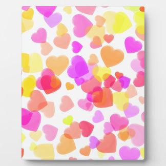 Colorful Hearts Plaque