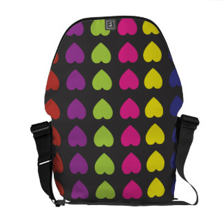 Colorful Hearts Rickshaw Messenger Bag