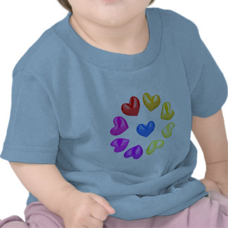 Colorful hearts tshirt