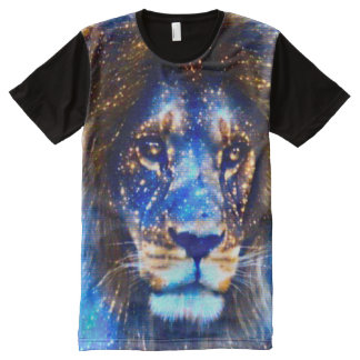 Colorful Heavenly Fantasy Lion All-Over Print T-Shirt