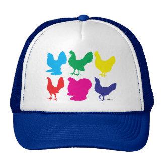 Colorful Hens Cap