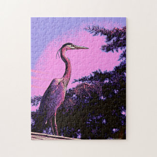 Colorful Heron Jigsaw Puzzle