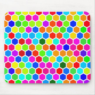 Colorful Hexagon Pattern Mouse Pad