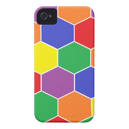 """""""Colorful Hexagons"""" Barely There Blackberry Bold Blackberry Bold Covers"""