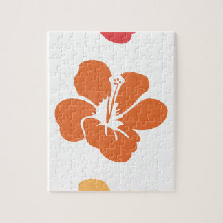 Colorful Hibiscus Flowers Jigsaw Puzzle